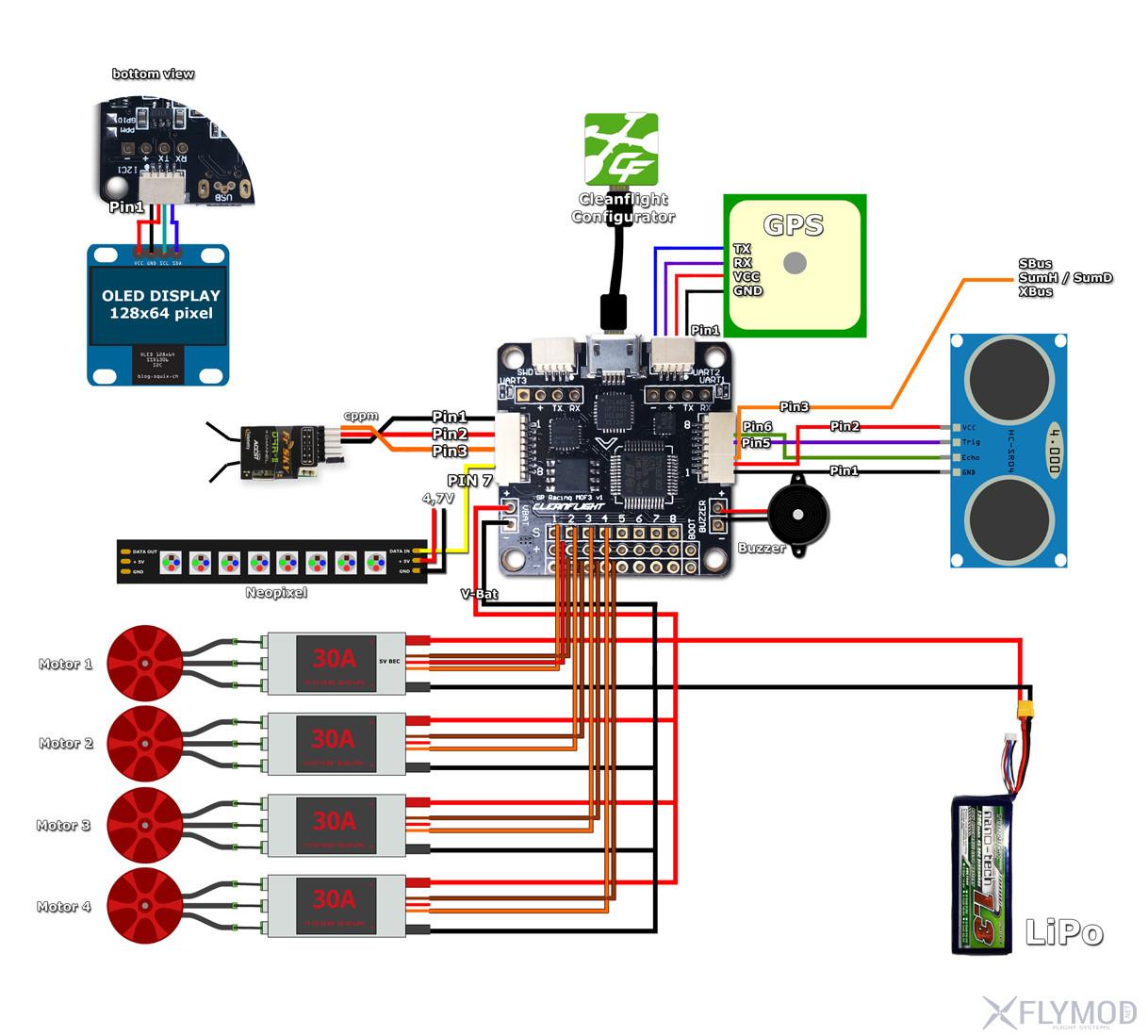 Cc3d Flight Controller Wiring Electrical Diagram Motor Quadcopter Esc Images