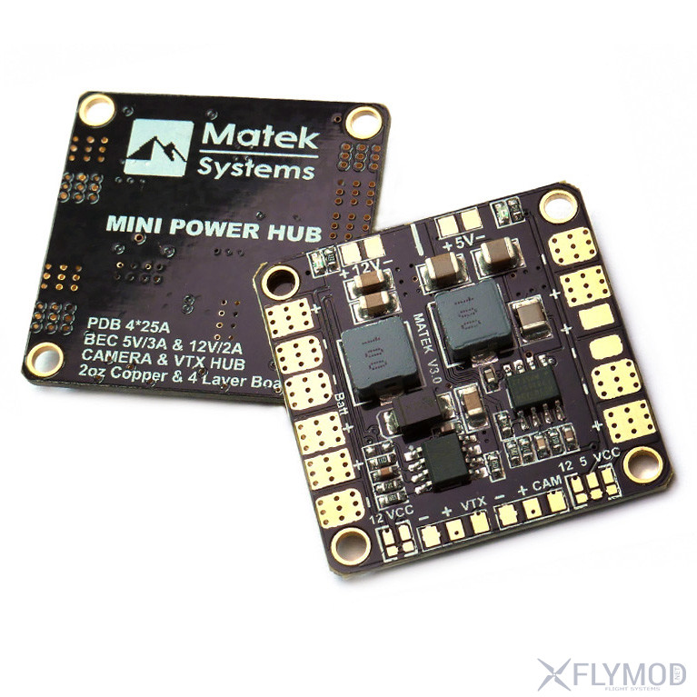 Распределительная плата Matek MINI POWER HUB V 3 1 с бэками на 5V и 12V