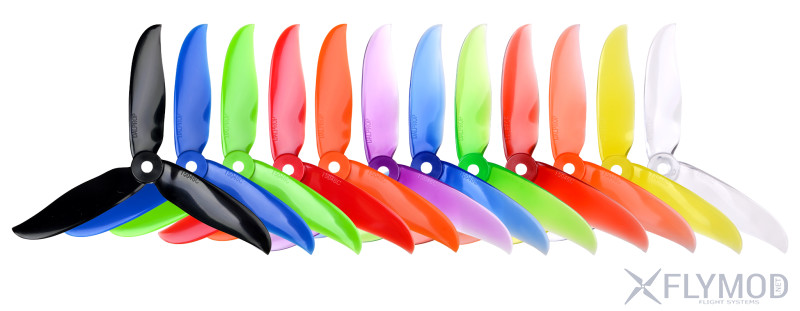 Пропеллеры dalprop cyclone t5046c propellers props 5046  tri-blade v2 3 лопасти