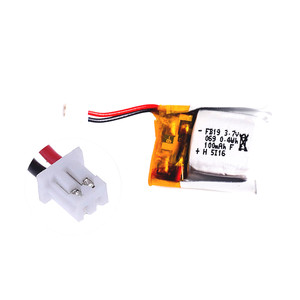 Мини аккумулятор Li-Po 100mAh 3.7V для Eachine E10, Cheerson CX-10A [JST-XH 1.25]