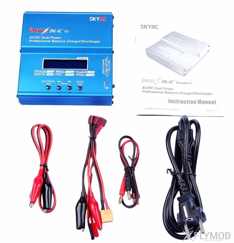 Зарядное устройство authentic SkyRC sky innovation imax built-in power supply B6AC V2 B6AC   V2 balanced charge