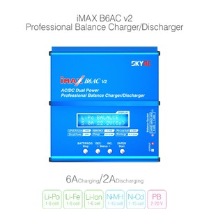 Зарядное устройство authentic skyrc sky imax built-in power supply b6ac v2 b6ac   v2 balanced charge зарядка