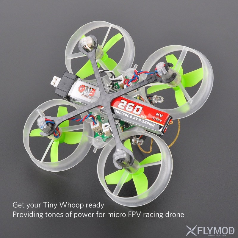 Аккумулятор gnb 260mah 3 8v 1s 30c lipo батарея банка accum battery ph2 0 gaoneng tiny whoop