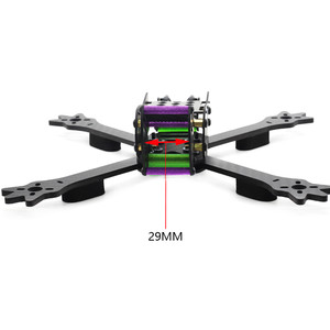 hskrc  woodpecker 235 235mm wheelbase 4mm arm 3k carbon fiber 5 inch racing frame kit for rc drone Карбоновая рама фристайл fpv