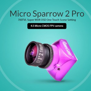 Камера для FPV RunCam Micro Sparrow 2 Pro 700TVL Super WDR CMOS 4 3 PAL integrated osd fpv pass-through camera для квадрокоптера