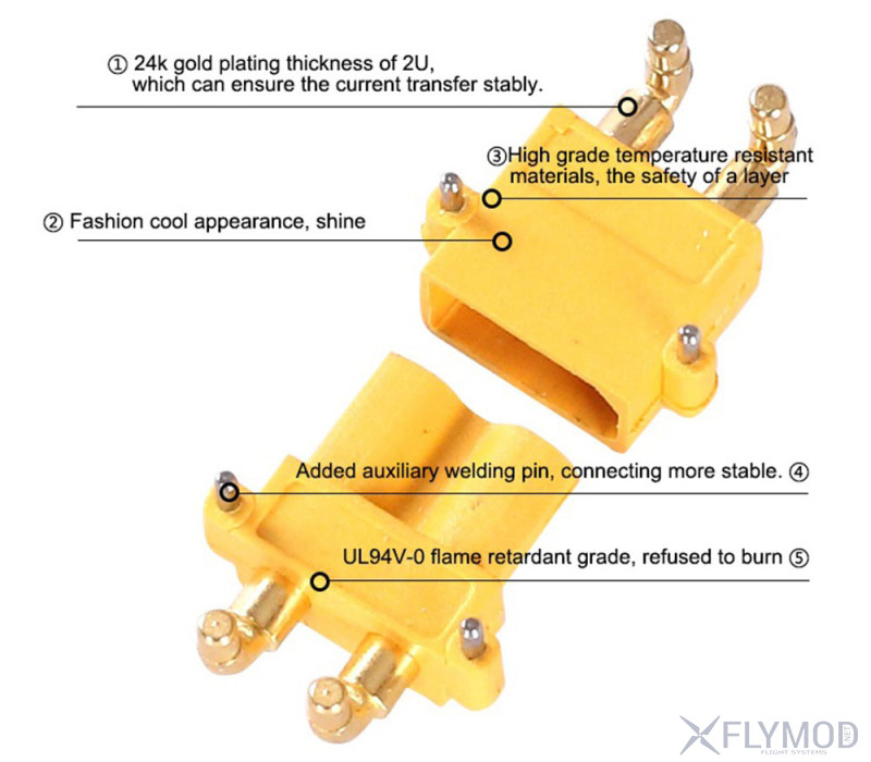 Коннекторы amass xt30pw угловые 90 градусов pcb horizontal male female 2mm bullet connectors plugs rc lipo battery