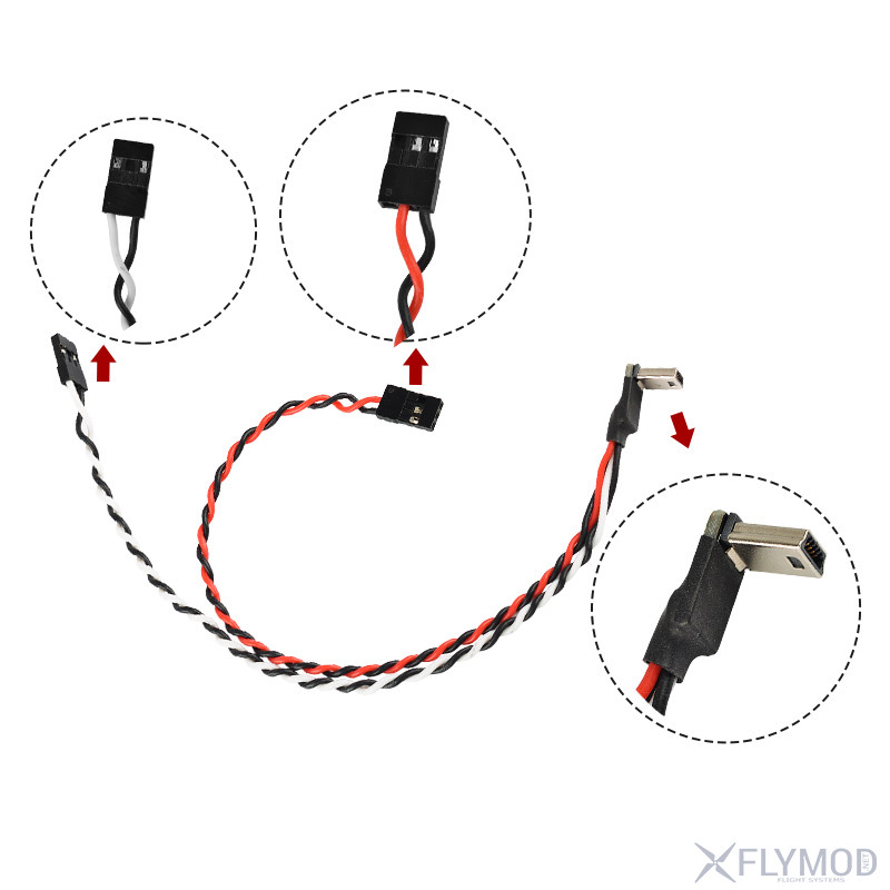 gopro3 4 video output cable fpv map transmission line gopro3  av ultra-thin video cable min fpv кабель с питанием mini usb av