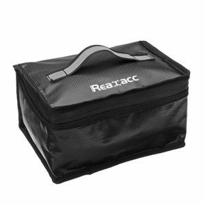 upgraded realacc fireproof waterproof lipo battery safety bag защитная сумка кейс бокс realacc светоотражающей ткани для хранения lipo аккумуляторов