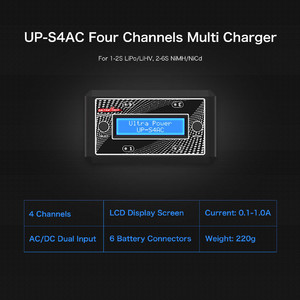 Зарядное устройство ultra power up-s4ac 2s lipo lihv four channels ac dc charger
