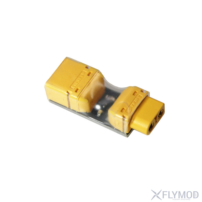 xt60 fuse installed test safety plug short circuit protection plug Переходник XT60 male to XT60 Female с защитой от короткого замыкания