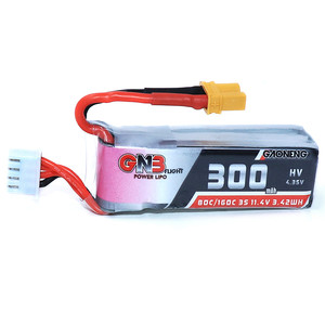 Аккумулятор gnb 300mah 3s 11 4v 80c xt30 hv high voltage