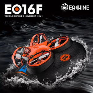 eachine e016f 3-in-1 epp flying air boat land driving mode detachable one key return rc quadcopter rtf Ховер квадрик