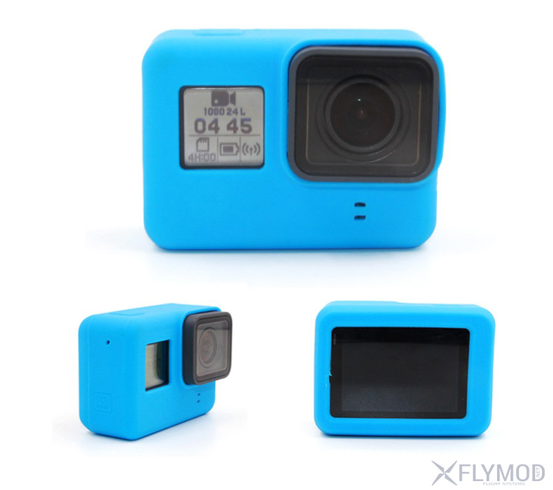 protective silicon case for naked gopro hero Защитный силиконовый чехол telesin для экшн камер 5  6  7 black