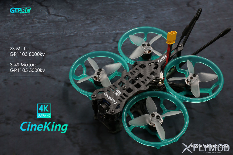 Мини fpv квадрокоптер geprc cineking 4k для видеосъемок rtf pnp