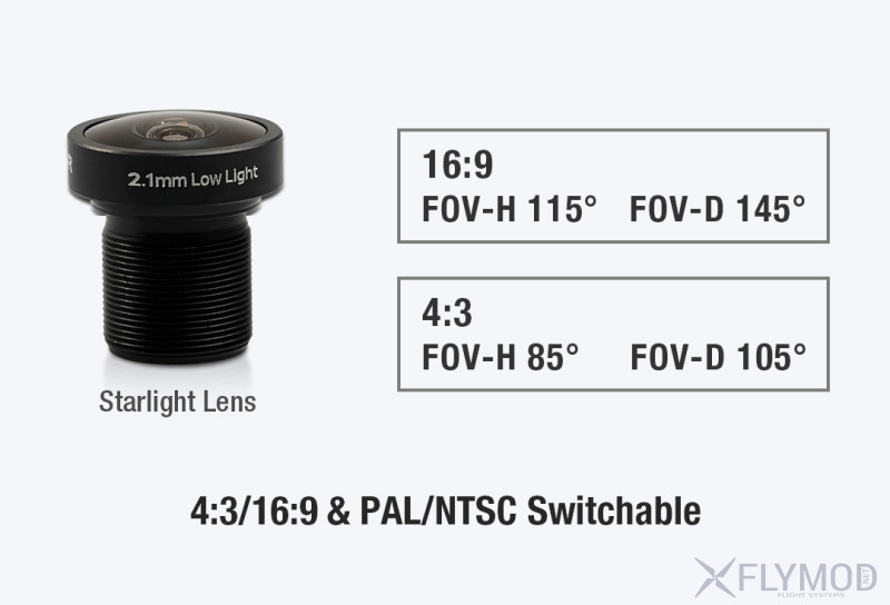 foxeer mini cat 2 starlight fpv camera low noise 0 0001lux low latency Камера для